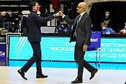 Martino Antimo Vitucci Francesco<br /> UnaHotels Reggio Emilia Happy Casa Brindisi<br /> Legabasket Serie A UnipolSAI 2020/2021<br /> Bologna, 11/10/2020<br /> Foto A.Giberti / Ciamillo-Castoria