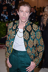 Shaun White walking the red carpet at The Metropolitan Museum of Art Costume Institute Benefit celebrating the opening of Heavenly Bodies : Fashion and the Catholic Imagination held at The Metropolitan Museum of Art  in New York, NY, on May 7, 2018. (Photo by Anthony Behar/Sipa USA)