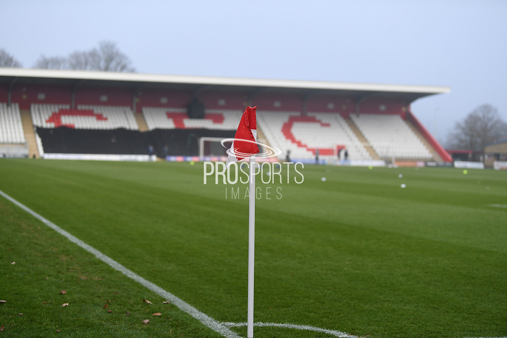 Corner Flag during the FA Cup match between Stevenage and Swansea City at the Lamex Stadium, Stevenage, England on 9 January 2021.