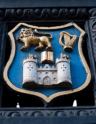 Coat of arms of Trinity College in Dublin Ireland