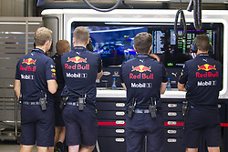 August 31, 2019, Spa, Belgium: Red Bull Team members pictured during the free trial sessions ahead of the Spa-Francorchamps Formula One Grand Prix of Belgium race, in Spa-Francorchamps, Saturday 31 August 2019. (Credit Image: © Nicolas Lambert/Belga via ZUMA Press)