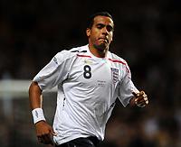 Fotball<br /> England<br /> Foto: Fotosports/Digitalsport<br /> NORWAY ONLY<br /> <br /> Villa Park Birmingham England U21 v Wales U21  14/10/2008<br /> <br /> Tom Huddlestone  (England)