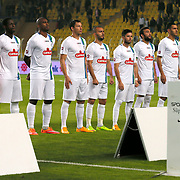 CaykurRizespor's players during their Turkish superleague soccer match Fenerbahce between CaykurRizespor at the Sukru Saracaoglu stadium in Istanbul Turkey on Saturday 08 November 2014. Photo by Aykut AKICI/TURKPIX