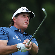 Phil Mickelson in action during the first round of theThe Barclays Golf Tournament at The Ridgewood Country Club, Paramus, New Jersey, USA. 21st August 2014. Photo Tim Clayton
