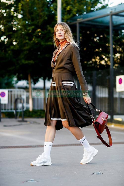 Street style, Veronika Heilbrunner arriving at Chloe spring summer 2019 ready-to-wear show, held at Maison de la Radio, in Paris, France, on September 27th, 2018. Photo by Marie-Paola Bertrand-Hillion/ABACAPRESS.COM