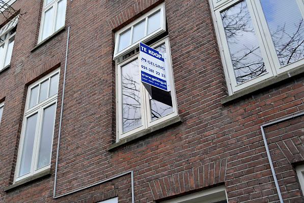 Nederland, Nijmegen, 29-3-2012Bovenwoning staat vanwege de malaise op de woningmarkt al ruim een jaar te koop.Foto: Flip Franssen/Hollandse Hoogte