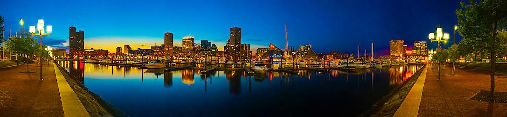 Baltimore Inner Harbor at sunset