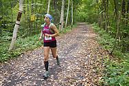 Rosendale, New York - Sara Wenger nears the finish line during the Shawangunk Ridge Trail Run/Hike 20-mile race on Sept. 20, 2014.