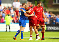 Rugby Union - 2018 Guiness Pro14 - Semi-Final: Leinster vs. Munster<br /> <br /> Simon Zebo (Munster) is consoled by Garry Ringrose (Leinster) at the end of the game, at RDS Arena, Dublin.<br /> <br /> COLORSPORT/KEN SUTTON