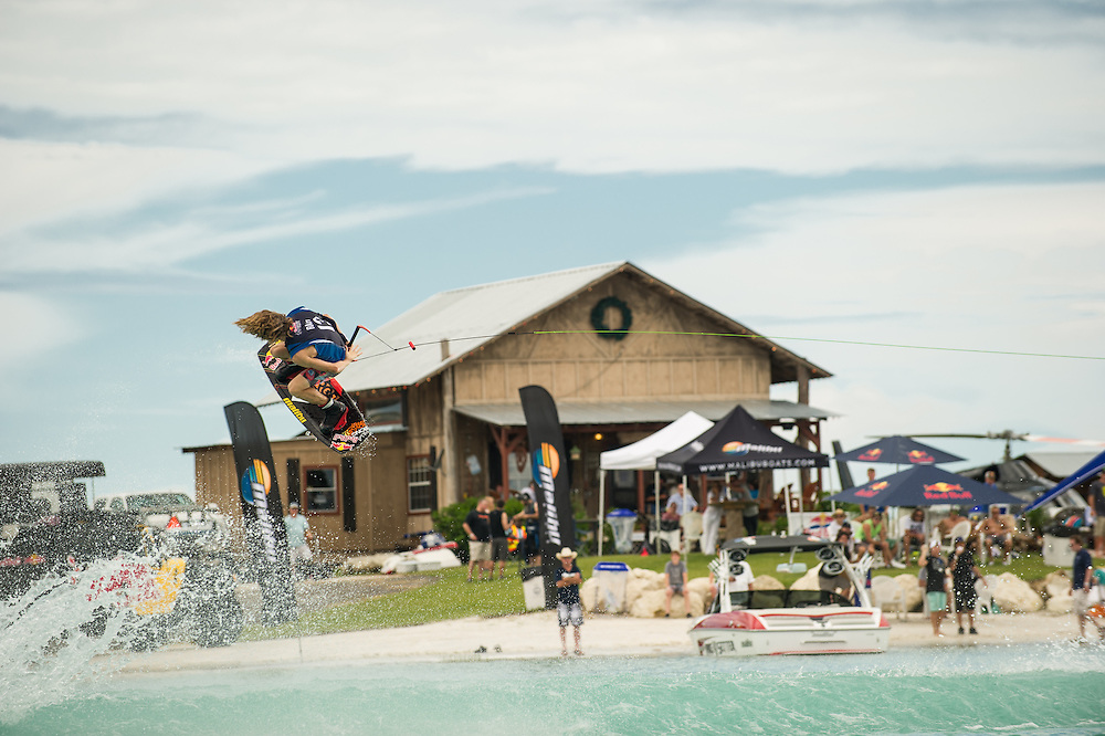 Raph Derome performs at the Red Bull Wake Open in Tampa Bay, Florida, USA on July 7, 2012