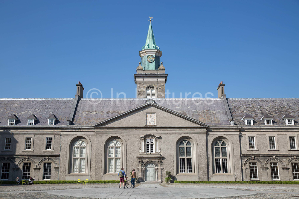 The Irish Museum of Modern Art, IMMA, on 07th April 2017 in Dublin, Republic of Ireland. The IMMA, housed in the Royal Hospital Kilmainham, an impressive 17th-century building, is Irelands leading national institution for the collection and presentation of modern and contemporary art.