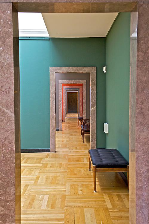 Rooms within rooms as seen in the Ny Carlsberg Glyptotek museum in Copenhagen, Denmark
