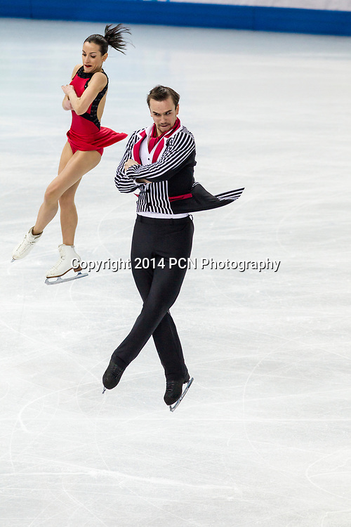 Ksenia Stolbova and Fedor Kilmov (RUS) silver medalist competing in the Figure Skating Pairs Free Skating at the Olympic Winter Games, Sochi 2014