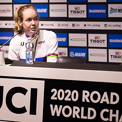 Anna van der Breggen (Netherlands) at the press conference af her second world title