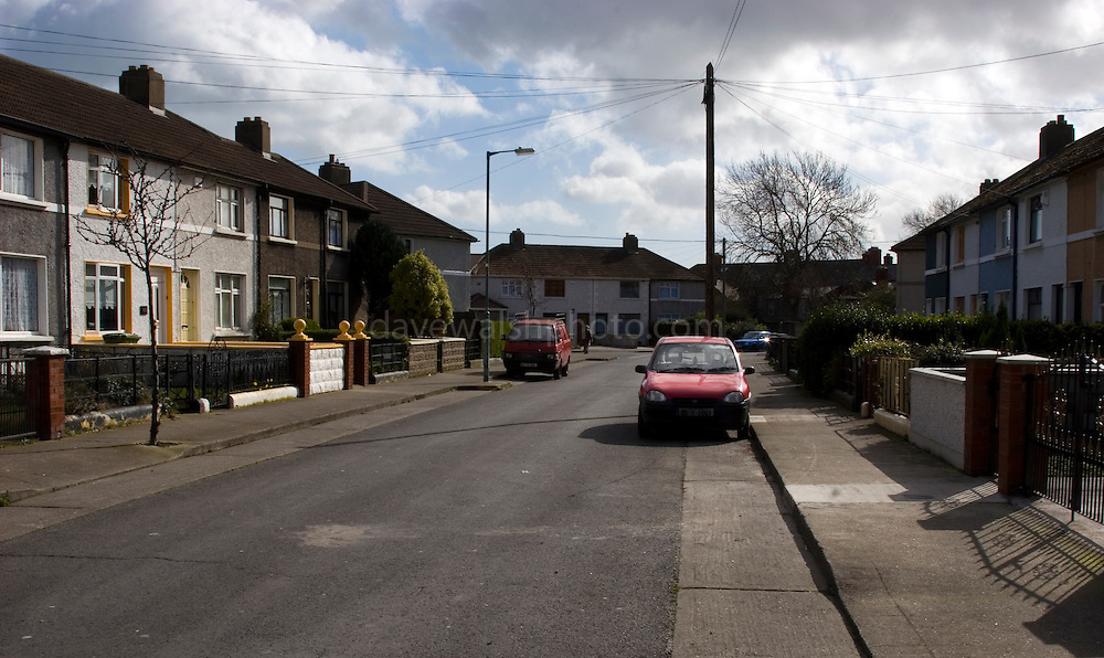 Tolka Road, off Clonliffe Road, Dublin. Council houses built in the 1930s on what used to be Tip O'Donnell's Orchard..