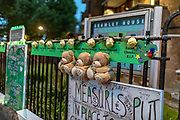June 14, 2019 - GBR - Names of the victims displayed on a railing during the commemoration. Second anniversary Commemorations of the devastating inferno fire in the residential tower block of Grenfell in West London. (Credit Image: © Vedat Xhymshiti/ZUMA Wire)