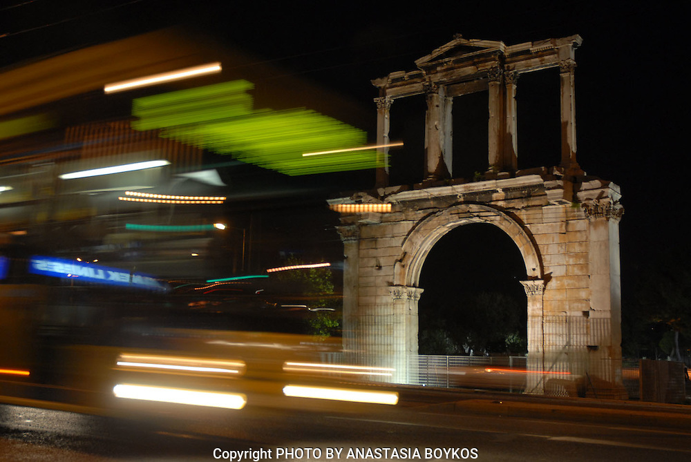 Feel the rhythm of the city. <br /> <br /> Play with photo speeds!!! <br /> <br /> Hadrian's Gate