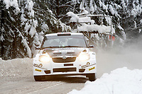 Motor <br /> WRC 2010<br /> Foto: DPPI/Digitalsport<br /> NORWAY ONLY<br /> <br /> MOTORSPORT - WRC 2010 - RALLY SWEDEN - KARLSTAD (SWE) - 11 to 14/02/2010 <br /> <br /> EYVIND BRYNILDSEN (NOR) / CATO MENKERUD (NOR) - SKODA RENE GEORGES RALLY SPORT - SKODA FABIA S2000 - ACTION