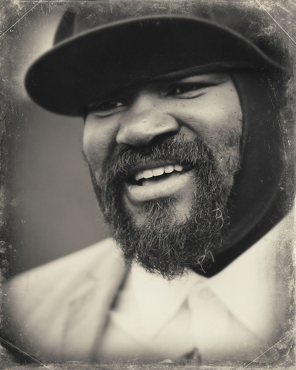 Gregory Porter @ the Waitrose vip area Cheltenham Jazz Festival . reportage ,lifestyle portrait photography , reportage ,lifestyle portrait photography ,