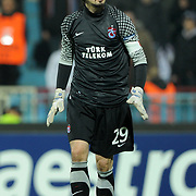 Trabzonspor's goalkeeper Tolga ZENGIN during their UEFA Champions League group stage matchday 5 soccer match Trabzonspor between Inter at the Avni Aker Stadium at Trabzon Turkey on Tuesday, 22 November 2011. Photo by TURKPIX