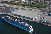 Maryland Port Administration Passenger cruise terminal with Carnival Pride docking on inaugural sail