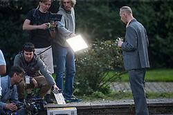 Ewen Bremner filming Trainspotting2 at Ferry Road, Edinburgh.