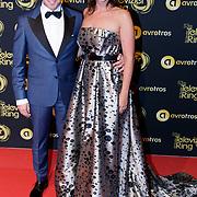 NLD/Amsterdam/20181011 - Televizier Gala 2018, Roos Moggre en partner Donatello Piras