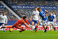 Football - 2020 / 2021 Scottish FA Cup - Round 3 - Glasgow Rangers vs Cove Rangers - Ibrox Stadium<br /> <br /> Kemar Roofe of Rangers of Rangers scores to make it 2-0<br /> <br /> Credit : COLORSPORT/BRUCE WHITE