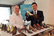 Bill Cullen pictured with Colm Healy of Skelligs Chocolates on St.Finian's Beach, Ballinskelligs, County Kerry..Picture by Don MacMonagle
