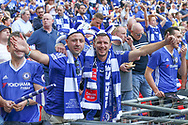 Chelsea supporters during the The FA Cup final match between Arsenal and Chelsea at Wembley Stadium, London, England on 27 May 2017. Photo by Shane Healey.