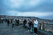 Naples, view of the gulf and the Vesuvio Volcano