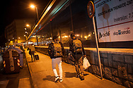 Some African migrants who arrived on the night bus decide to go with their contact instead of going to the Red Cross device with volunteers. Irun (Basque Country). April 02, 2019. A group of volunteers has created a host network to serve migrants and inform about the public services they are entitled to and the ways to cross the border. This group of volunteers is avoiding a serious humanitarian problem Irun, the Basque municipality on the border with Hendaye. As the number of migrants arriving on the coasts of southern Spain incresead, more and more migrants are heading north to the border city of Irun. French authorities have reacted by conducting random checks as far as the city of Bordeaux, more than 200 kilometers north of the border. Migrants who are caught are then deported back to Irun. (Gari Garaialde / Bostok Photo).
