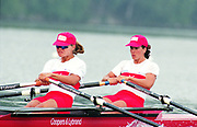 Tampere Kaukajaervi,  FINLAND.   Women's Double Sculls CAN W2X Kathleen HEDDLE and Marnie McBEAN, competing at the 1995 World Rowing Championships - Lake Tampere, 08.1995<br /> <br /> [Mandatory Credit; Peter Spurrier/Intersport-images] Re-Edited and file ref No. updated, 16th January 2021.