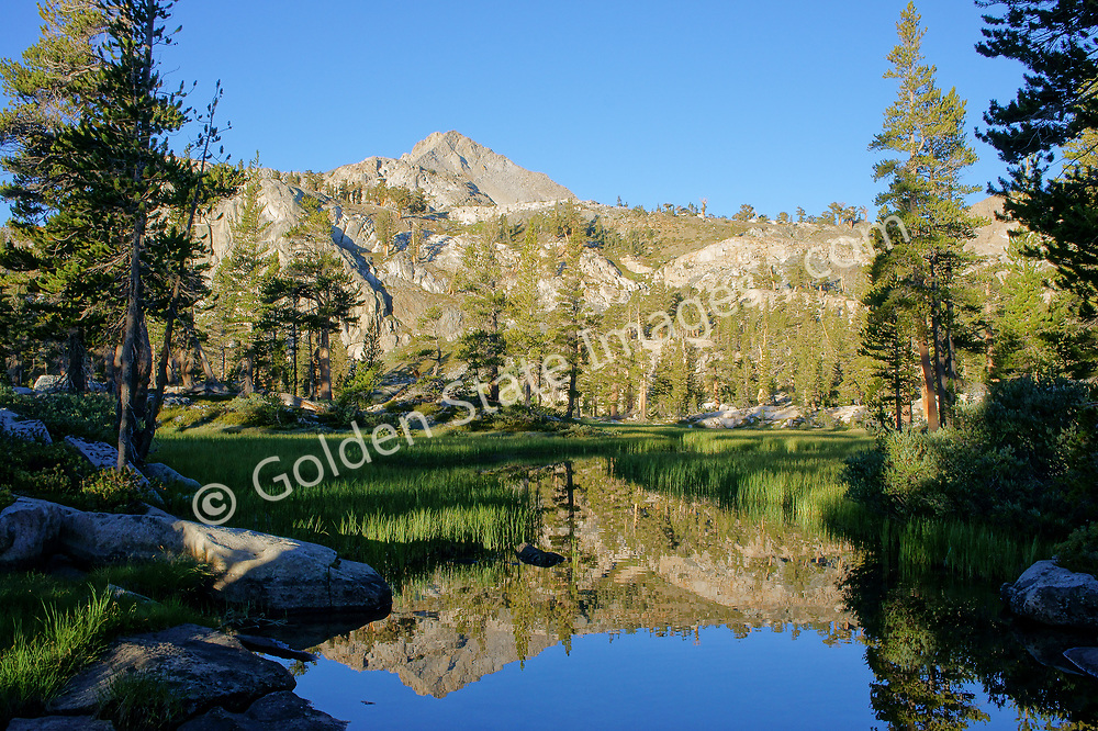 Sunrise over Upper Little Five Lakes in Sequoia National Park.