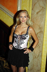 MISS ANOUSHKA DE GEORGIOU at a party to celebrate a new collection of sexy underware by Janet Reger called 'Naughty Janet' held at 5 Cavendish Square, London on 19th October 2004.<br /><br />MINIMUM REPRODUCTION FEE - SEE OUR WEB SITE<br /><br />NON EXCLUSIVE - WORLD RIGHTS-