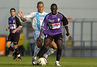 Fotball<br /> Frankrike 2004/05<br /> Istres v Olympique Marseille<br /> 2. oktober 2004<br /> Foto: Digitalsport<br /> NORWAY ONLY<br /> ABDOULAYE DIAGNE FAYE (IST) / EDUARDO COSTA (OM)