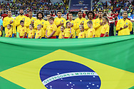 Team of Brazil during anthems before the 2018 FIFA World Cup Russia, Group E football match between Erbia and Brazil on June 27, 2018 at Spartak Stadium in Moscow, Russia - Photo Thiago Bernardes / FramePhoto / ProSportsImages / DPPI