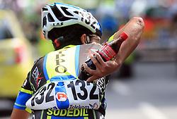 Takahiro Yamashita of Japan (Nippo Endeka) drink Coca Cola during 1st stage of the 15th Tour de Slovenie from Ljubljana to Postojna (161 km) , on June 11,2008, Slovenia. (Photo by Vid Ponikvar / Sportal Images)/ Sportida)