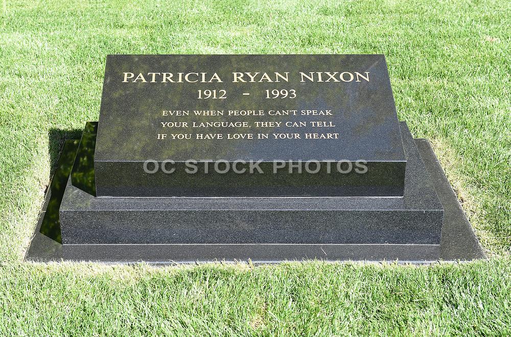 First Lady Patricia Nixon Headstone at Nixon Library and Museum Yorba Linda