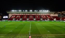 General view of Ashton Gate  - Mandatory by-line: Alex Davidson/JMP - 08/12/2017 - RUGBY - Ashton Gate Stadium - Bristol, England - Bristol Rugby v Leinster 'A' - B&I Cup