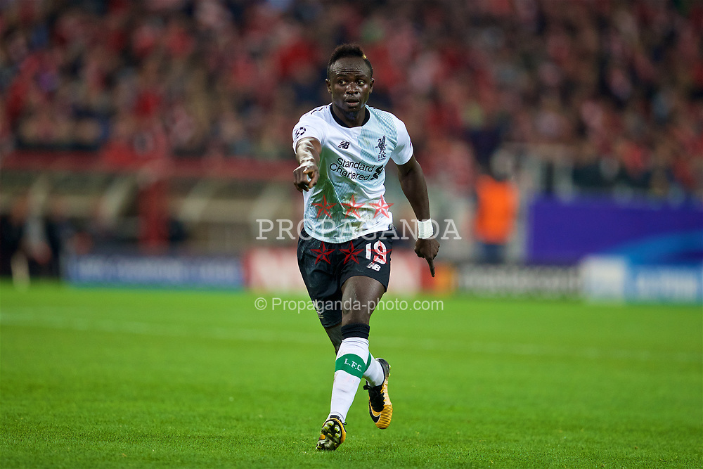 MOSCOW, RUSSIA - Tuesday, September 26, 2017: Liverpool's Sadio Mane during the UEFA Champions League Group E match between Spartak Moscow and Liverpool at the Otkrytie Arena. (Pic by David Rawcliffe/Propaganda)