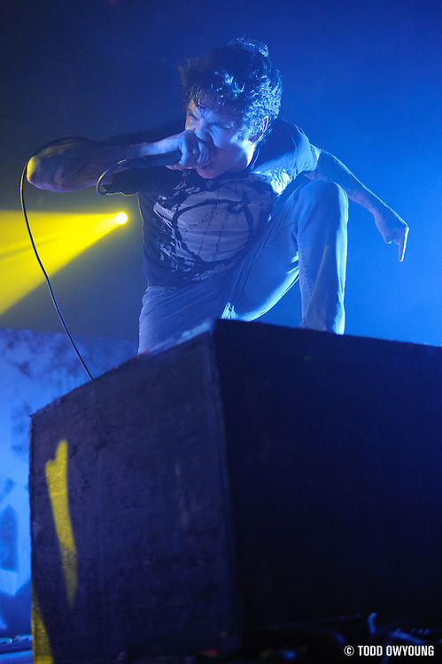 Photos of metalcore band The Devil Wears Prada performing live at the Pageant in St. Louis in support of Killswitch Engage.