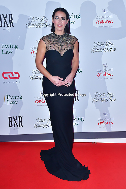 Kirsty Gallacher arrive at Float Like A Butterfly Ball for Caudwell Children Charity at Grosvenor House Hotel on 16 November 2019, London, UK.