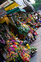 Flowers for Sale near Ben Thanh market in Saigon.