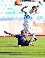 Fotball, Adeccoligaen Stabæk - Ranheim 09Juni 2013<br /> Michael Cristopher Stilson , Ranheim<br /> Timmi Johansen , Stabæk<br /> <br /> <br /> Foto: Ole Marius Fjalsett