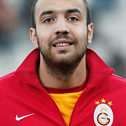 Galatasaray's Sercan Yildirim during their Turkish Superleague soccer match Genclerbirligi between Galatasaray at the 19 Mayis stadium in Ankara Turkey on Saturday 03 December 2011. Photo by TURKPIX