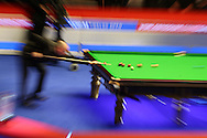 Stuart Bingham of England plays a shot. Coral Welsh Open Snooker 2017, final match, Judd Trump of England v Stuart Bingham of England at the Motorpoint Arena in Cardiff, South Wales on Sunday 19th February 2017.<br /> pic by Andrew Orchard, Andrew Orchard sports photography.