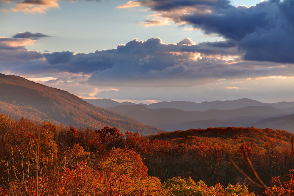 Views from the Blue Ridge Parkway in Nelson County, VA. Photo/Andrew Shurtleff