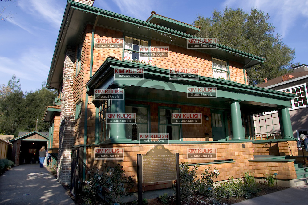 In 1939, David Packard and William Hewlett launched Hewlett-Packard out of a 12-by-18-foot garage on a leafy street in Palo Alto, Calif. The spot is considered by some as the birthplace of Silicon Valley.  In 2000, HP bought the Palo Alto lot, house, garage and shed for a reported $1.7 million. On Dec. 6, the tech company celebrated the completion of its effort to restore the buildings to their appearance in 1939 and allowed the public to tour the site over the weekend.     .Photo by Kim Kulish