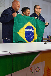 Apresentação de Hugo Hoyama como porta-bandeira da delegação brasileira no Pan-Americano de Guadalarrara 2011. FOTO: Jefferson Bernardes/Preview.com